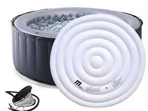 Mspa Silver Cloud luxury portable hot tub with cover and pump